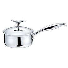 lucuku特厚304不锈钢奶锅单柄小汤锅五层钢煮泡面电磁炉通用