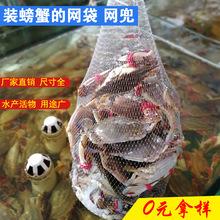 裝螃蟹的網袋加厚 海鮮袋子小網眼 裝小龍蝦甲魚塑料尼龍網兜批發