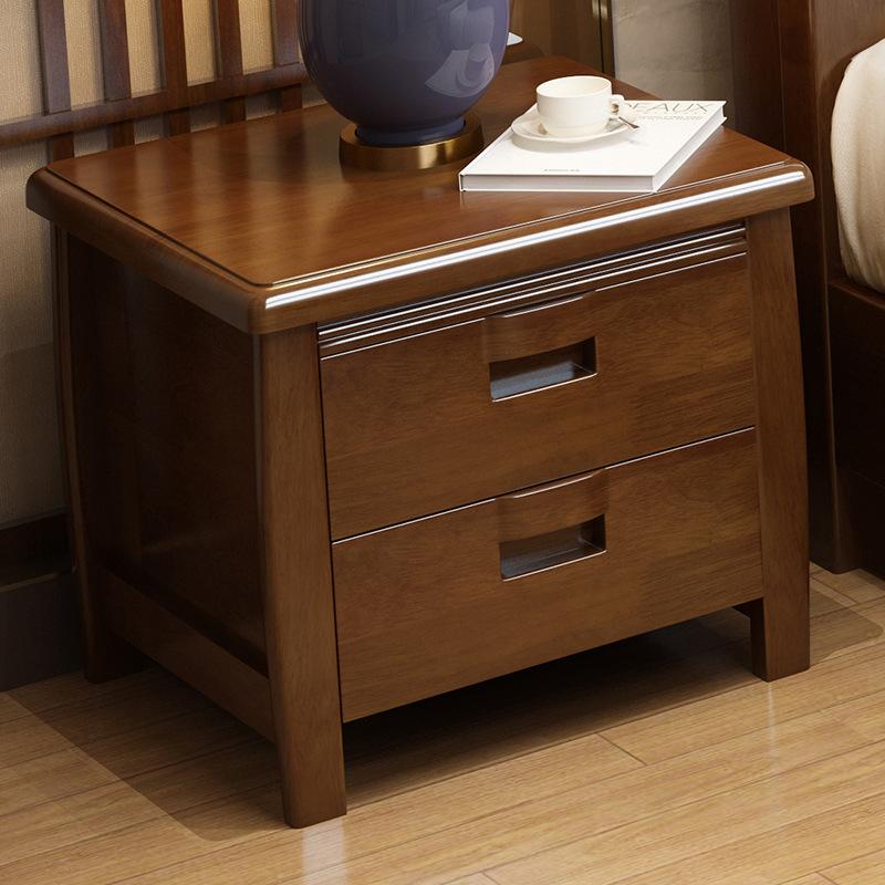 简约现代卧室实木床头柜婚床搭配床侧柜子新中式主卧次卧储物柜子
