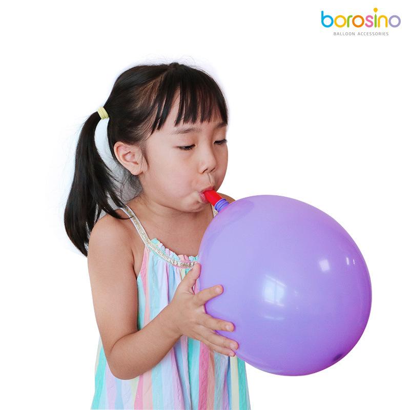 宝诺婚庆宝宝生日派对吹气球装饰用品 气球吹气嘴 气球充气工具