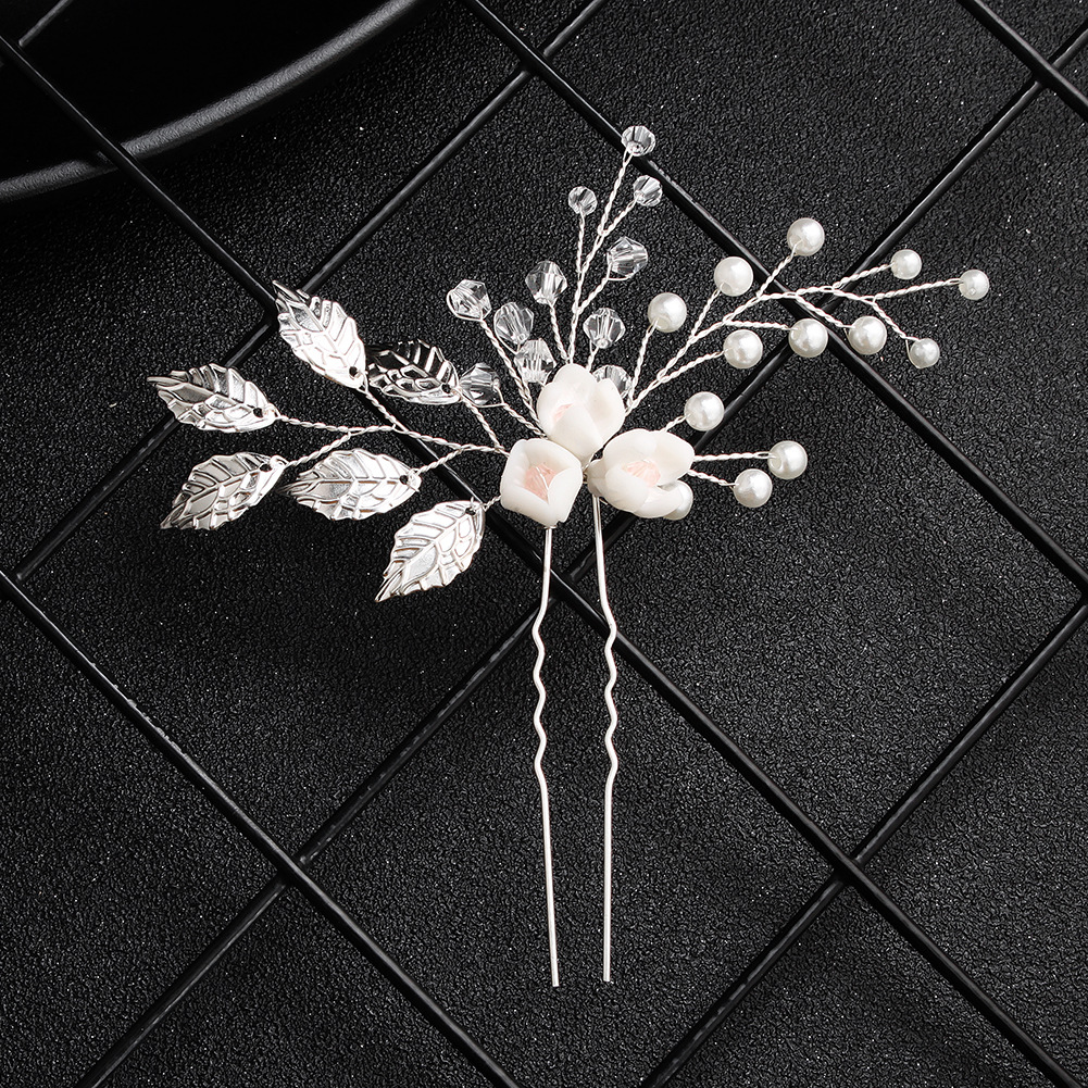 Beads Simple Flowers Hair accessories  (Alloy) NHHS0588-Alloy
