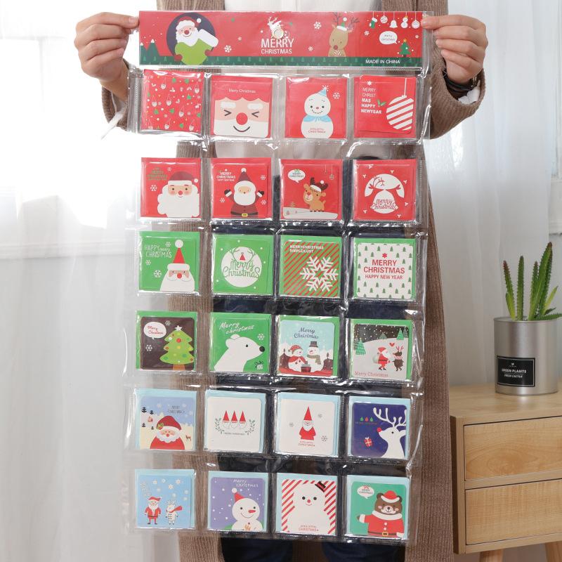 新款圣诞卡片现货商务圣诞节贺卡圣诞节日迷你祝福小卡片定做S882