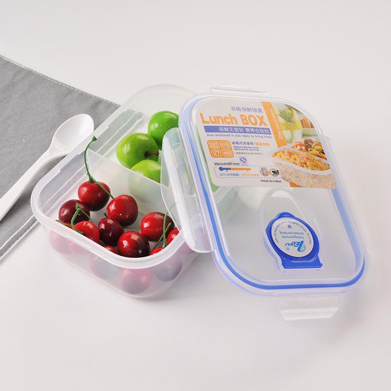 分格塑料餐盒学生保温饭盒保鲜盒 饭盒微波炉加热便当盒厂家直销