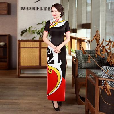 Cheongsam season women country show Chinese Dress Qipao for women