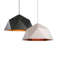 现代简约风格铁艺多边菱形北欧阳台吧台个性单头餐厅创意几何吊灯