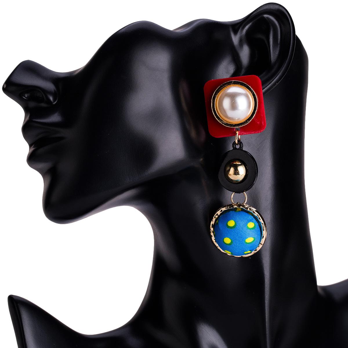 Alloy Fashion Geometric earring(white) NHJE1204-white