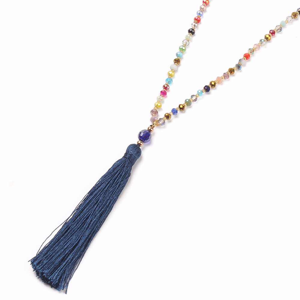 Imitated crystal&CZ Bohemia Tassel necklace  (N6124-A) NHGW0290-N6124-A
