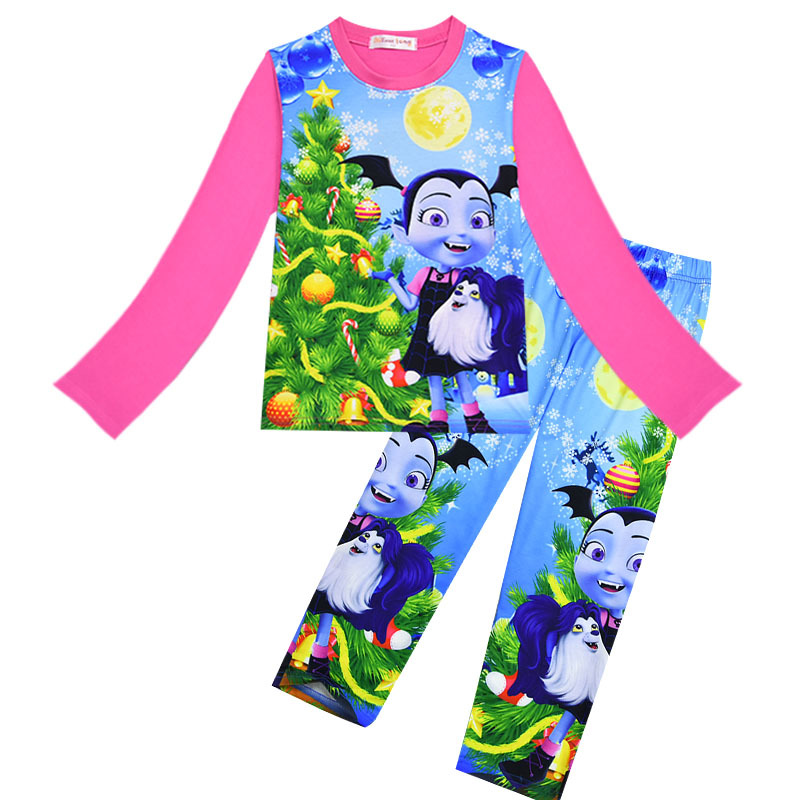 5fa959c21 Children Cartoon Vampirina Pyjamas Girls Spring Fall Vampire Cartoon ...