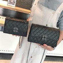 包包女2018新款 韓版菱格鏈條包 百搭時尚單肩斜挎小方包一件代發