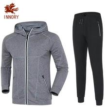 2018春季新款男式运动卫衣套装健身跑步运动套装批发定制印logo