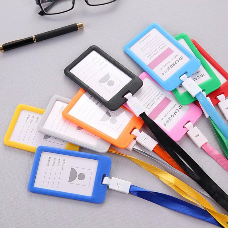 Badge bộ thẻ công việc dây buộc các tài liệu hai mặt trong suốt nhân viên nhãn thẻ sinh viên tại chỗ bán buôn