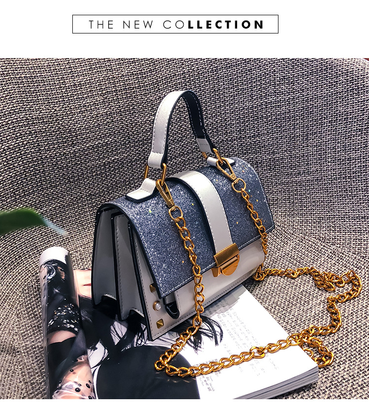 Korean version of the small square bag chain shoulder diagonal package NHPB148594