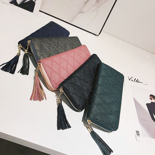 Long wallet, wallet, new style, European and American women's wallet, fashion Linggra chain, hand bag, multi-card mobile phone coin purse