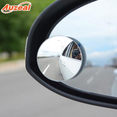汽车盲点镜 车载无边小圆镜 对装辅助镜 360度旋转倒车凸面后视镜