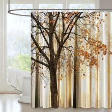 浴帘3d curtain涤纶防水数码风景印花帘布浴室防水隔断帘支持定制
