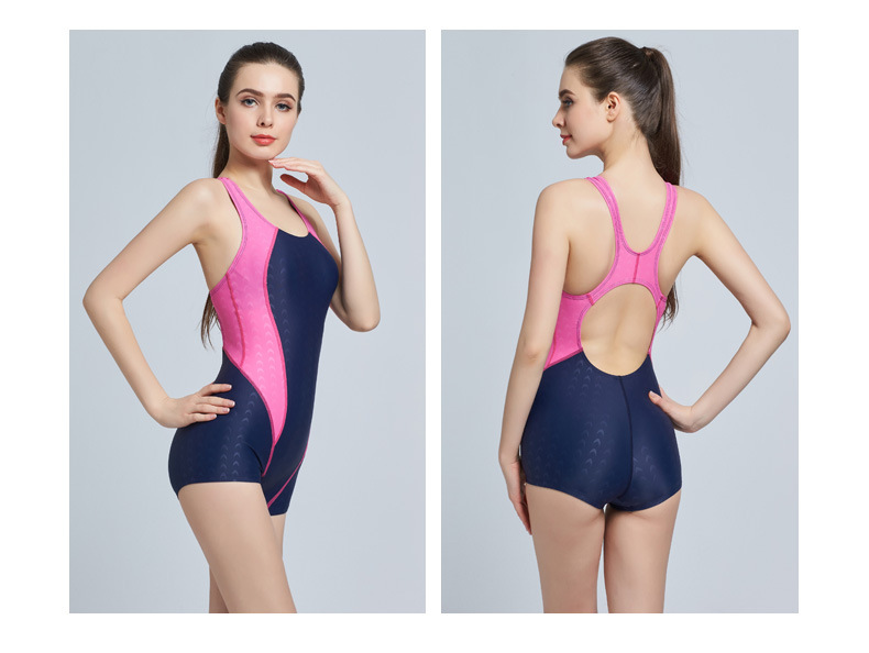Training Competition One Piece Swimsuit Women Quick Dry Triangle Swimwear 485