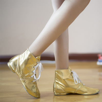 Girl shoes, leather boots, high top and soft sole training shoes women adult gold and silver performance shoes