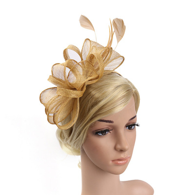 Party hats Fedoras hats for women Boutique Ma shaniang headdress feather headdress hairpin hairpin ball party headband top hat