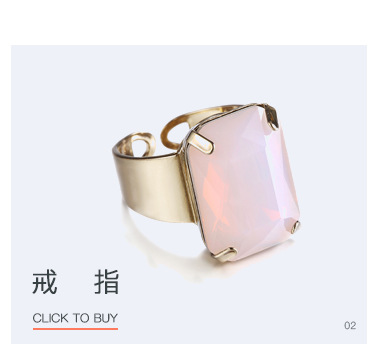 Alloy Fashion Geometric necklace  (Alloy + pink) NHTF0144-Alloy-pink