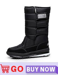 2018 Новые мужские ботинки теплые меховые ботильоны непромокаемые для папы