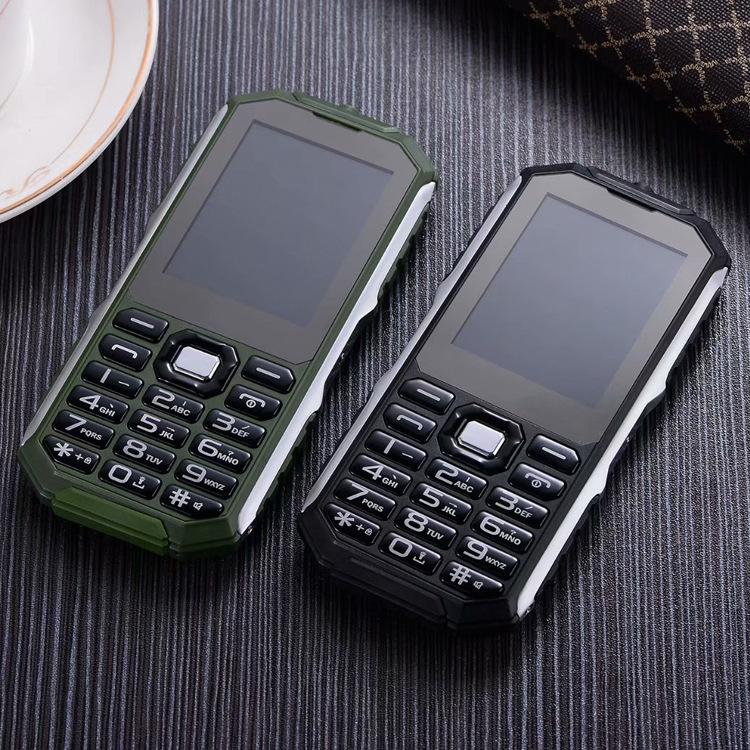低价批发 超薄三防电霸老人手机 双卡双待 大字大声 支持多国语言