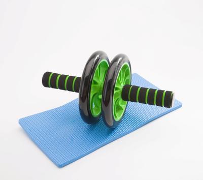 特价 健腹轮静音双轮 运动健身器材用品健腹轮 健腹器16寸双轮