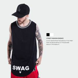 European and American Fashion Brand Spring and Summer New Men's Wear High Street Round bottom letter printed Men's Sports vest