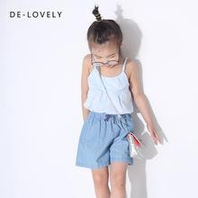 笑可愛女童吊帶衫 2018夏新款韓版純棉寶寶吊帶兒童沙灘小背心
