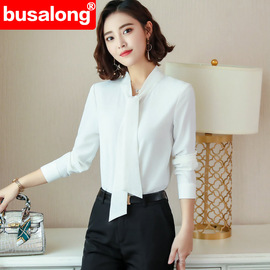 New long-sleeved white shirt ladies spring and summer professional self-cultivation work clothes large size officially installed ol 6291