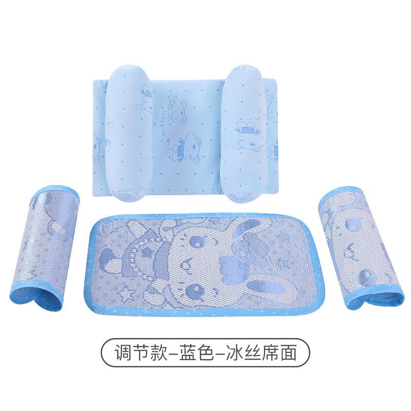 现货婴儿枕头卡通可调节宝宝定型枕防偏头天鹅绒透气新生儿扁头枕