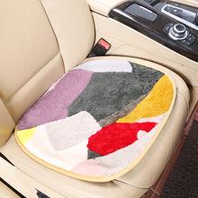 冬季汽車坐墊羊毛坐墊三件套現貨批發短毛絨小坐墊單方墊廠家直銷
