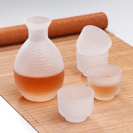 Mei Zhi Li sản xuất Nhật Bản nhãn hiệu nồi bốn cốc quà tặng rõ ràng tách ly rượu trắng rượu flagon bộ tùy chỉnh Bộ rượu