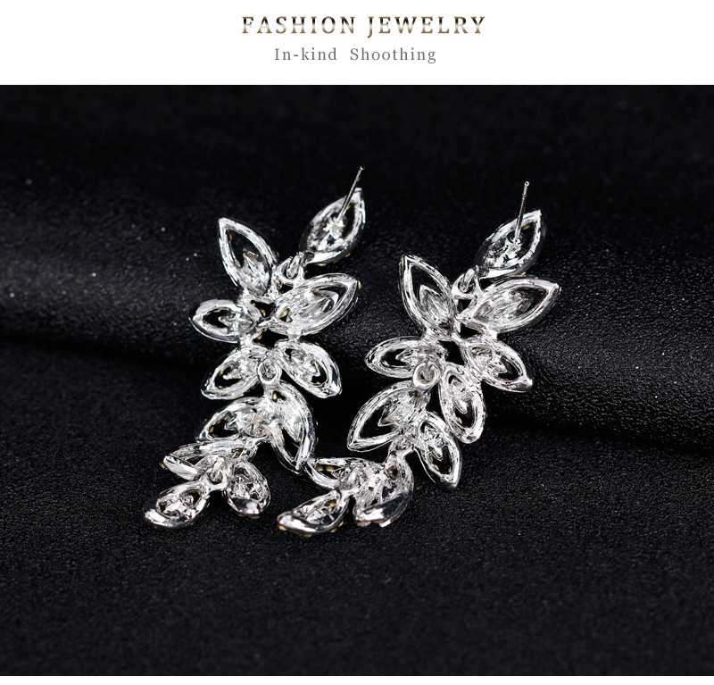 Alloy Fashion Flowers earring  (BA176-A) NHDR2621-BA176-A