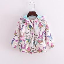 春秋兒童塗鴉外套 男女中小童童上衣夾克 夏季防曬服外貿廠家直銷