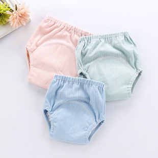 New thread learning pants baby cotton pull-up pants children's baby learning training pants cloth diapers wholesale