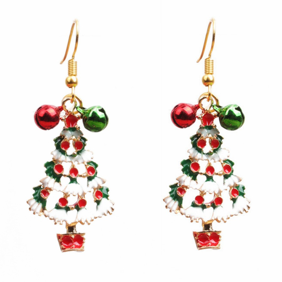 Acrylic Fashion Geometric earring  (Christmas tree) NHYL0330-Christmas-tree