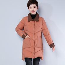 棉衣女中长款韩版冬季2018新款大码宽松撞色保暖棉袄女士棉服外套