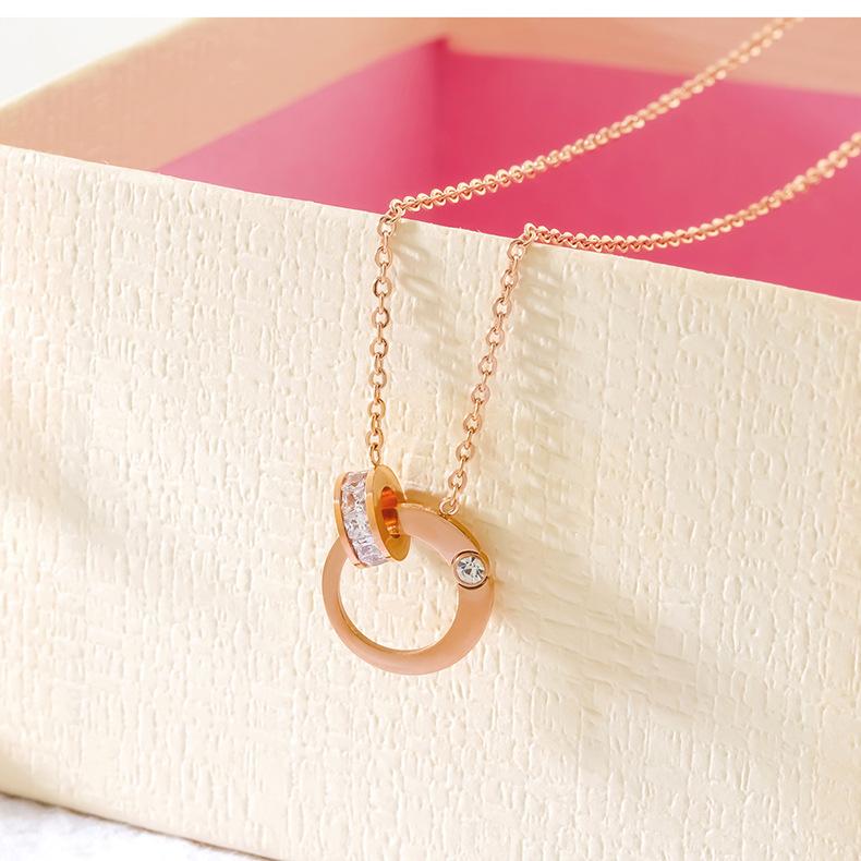 Titanium&Stainless Steel Korea Geometric necklace  (necklace) NHOP2978-necklace