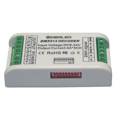 超高性价比DMX控制器 3通道DMX512解码器DC12-24V灯带控制器