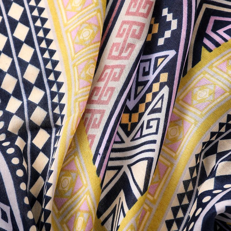 Bohemian retro ethnic wind travel multi-function sunscreen geometric diamond scarf NHGD175772