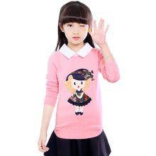 女童毛衣套頭春秋裝2018新款韓版中大童羊毛衫小女孩兒童毛線衣潮