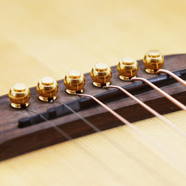 Guitar Pure Copper Nail refers to playing Folk Guitar solid Cone Guitar Brass string extension 6 sets