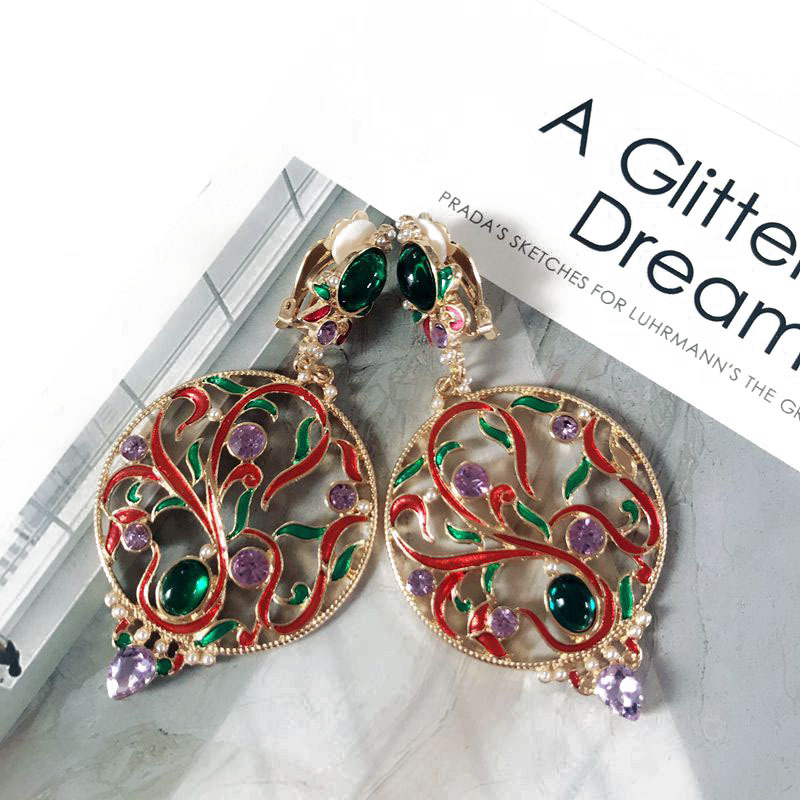 Alloy Fashion  earring  (Photo Color) NHOM0801-Photo-Color