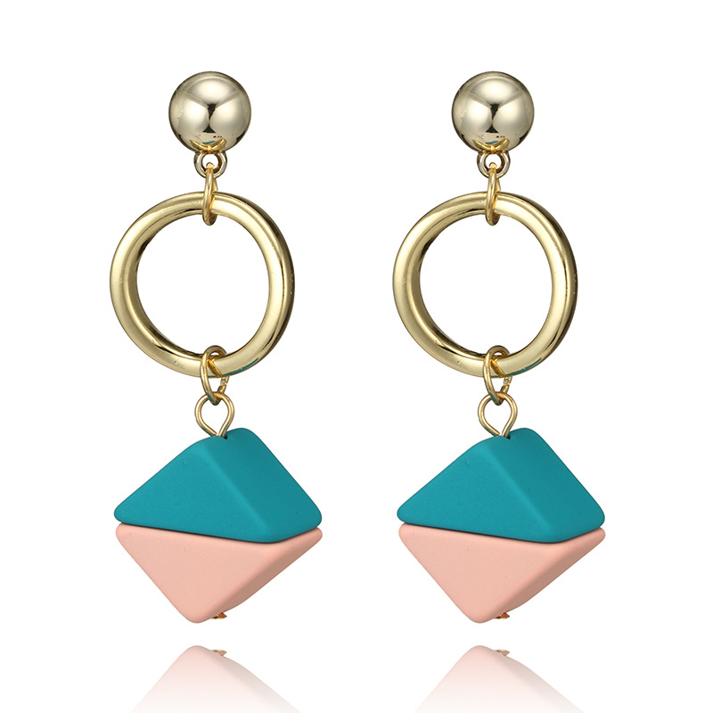 Alloy Fashion Geometric earring(sky blue) NHGY1742-sky blue