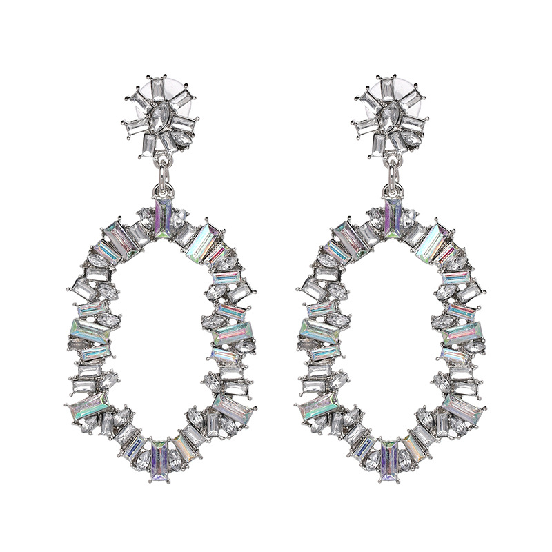 Plastic Fashion Geometric earring  (Alloy + White) NHJJ4890-Alloy-White