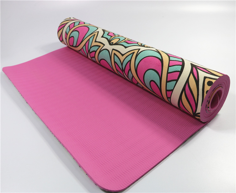 Ultra Thin Natural TPE Slip-resistant Yoga Mats Folding Fitness Mat High Temperature Suede Travel Printing Blanket 17