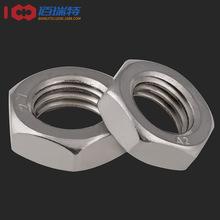 DIN439 316 304不锈钢薄款六角螺母 薄螺帽螺母 M3-M20 现货供应