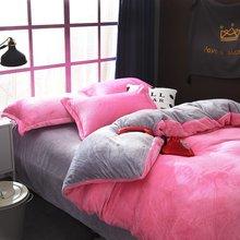 冬天法兰绒四件套珊瑚绒毛绒床单被套双面绒三件套保暖厚床上用品