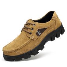 户外真皮头层牛皮百搭英伦日常男士商务休闲皮鞋经典款外单登山鞋