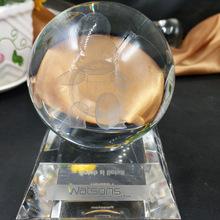 3D水晶内雕球 工艺品水晶球 十二生肖 送朋友 办公室 创意摆件